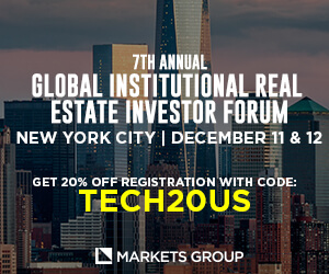 Global Institutional Real Estate Investor Forum Side Banner