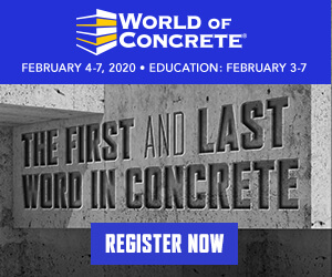 World of Concrete Side Banner