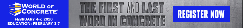 World of Concrete Top Banner