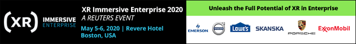 XR Immersive Enterprise 2020 Top Banner