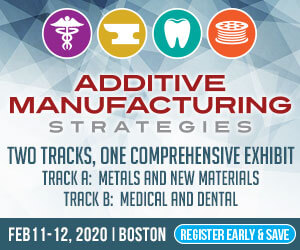 Additive Manufacturing Strategies 2020 Side Banner