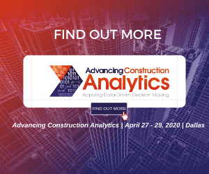 Advancing Construction Analytics 2020 Side Banner