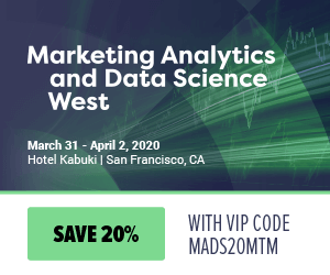 Marketing Analytics & Data Science West