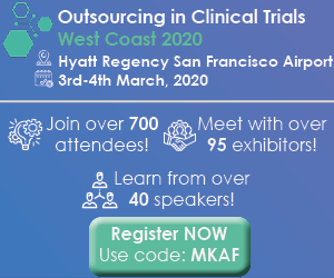 Outsourcing in Clinical Trails West Coast 2020 Side Banner